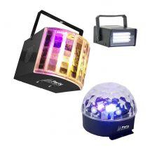 Pack de 3 effets de lumière à led