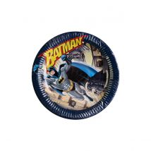 6 assiettes Batman - 23cm