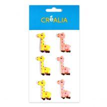 6 accessoires en résine - Girafes - Créalia