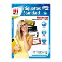 Papier étiquettes standard