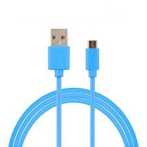 Câble USB - Micro USB bleu - 1M