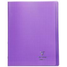 Cahier Koverbook Violet 24x32cm 96 pages à grands carreaux - Clairefontaine