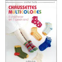 Chaussettes multicolores à crocheter en 1 week-end