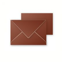 5 enveloppes 75x100 mm et 5 cartes 70x95 mm - Pollen - Cacao