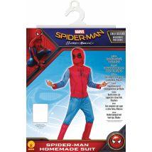 Spider-man homecoming - déguisement classique sweat avec couvre-bottes + cagoule - taille l