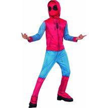 Spider-man homecoming - déguisement classique sweat avec couvre-bottes + cagoule - taille s