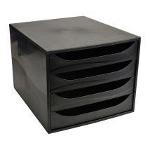 Ecobox -Caisson 4 tiroirs ECOBlack - noir