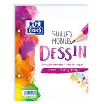 Feuilles Mobiles Dessin - 17x22cm - 100 Pages - Oxford