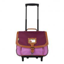 Cartable à roulettes 38cm Tann's - Iconic Violet-Parme - 2 compartiments