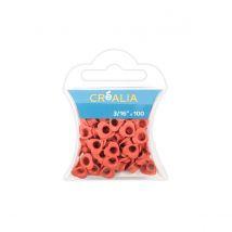 100 illets 3/16 pouces - Curs Corail - Créalia