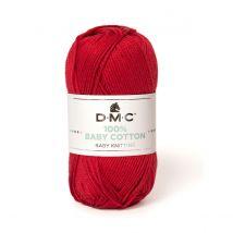 Baby cotton Rouge - DMC - Pelote de laine