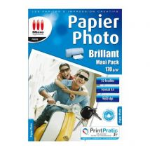 Papier Photo Maxi Pack - Brillant A4 170g/m² 50f - Micro Application