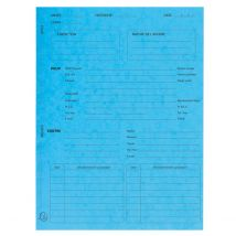 25 Chemises imprimées Procédure - bleu - Exacompta