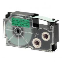 Ruban adhésif XR-12GN1-W-DJ - noir sur vert - 12 mm - Casio
