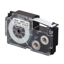 Ruban adhésif XR-12GWE-W-DJ - noir sur blanc - 12 mm - Casio