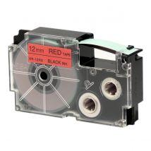 Ruban Adhésif Xr-12rd1-w-dj - Noir Sur Rouge - 12 Mm - Casio