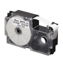 Ruban adhésif XR-12TWE-W-DJ - noir sur blanc - 12 mm - Casio