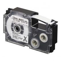 Ruban adhésif XR-12VWE-W-DH - noir sur blanc - 12 mm - Casio