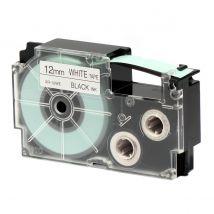 Ruban adhésif XR-12WE1-W-DJ - noir sur blanc - 12 mm - Casio