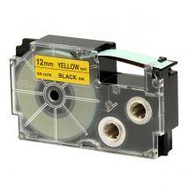 Ruban adhésif XR-12YW1-W-DJ - noir sur jaune - 12 mm - Casio