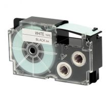 Ruban adhésif XR-18WE1-W-DJ - noir sur blanc - 18 mm - Casio