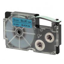 Ruban Adhésif Xr-9bu1-w-dj - Noir Sur Bleu - 9 Mm - Casio