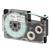 Ruban adhésif XR-9WE1-W-DJ - noir sur blanc - 9 mm - Casio