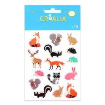 15 Stickers Résine Forêt - Créalia - Créalia