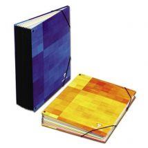 Trieur à élastique à soufflets - 21x29.7 cm - 9 positions - 3 coloris assortis