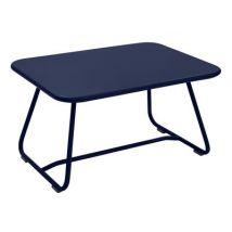 Fermob Tavolino Sixties, Blu profondo, Metallo. l:75.5cm L:55.5cm H:41cm