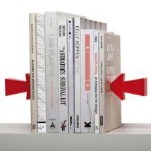 Serre-livres Arrow magnétique - Lot de 2 - Pa Design rouge en matière plastique