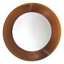 All Saints Wall mirror by Kartell - Amber - Plastic material