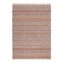 Naidu kilim Rug - 170 x 240 cm - Reversible by Gan White,Pink,Orange