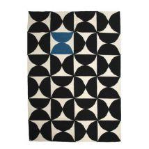 Sentou Edition Tapis Alpha Kilim / 170 x 240 cm - Sentou Edition blanc,bleu,noir en tissu