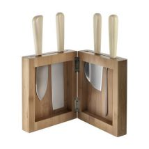 Milky Way Minor Knife stand - Knife block in bamboo by Alessi - Light wood - Cane & fibres