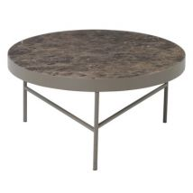 Ferm Living Table basse Marble / Large - Ø 70,5 x H 35 cm - Ferm Living marron clair en métal