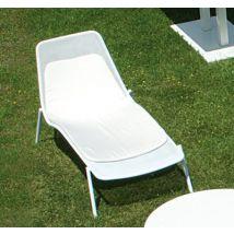 Emu Coussin pour chaise longue Round - Emu L 135 cm x larg 64 cm x épaisseur 3,5 cm - Dossier : L 46,5 cm / Assise : L 88,5 cm gris en tissu