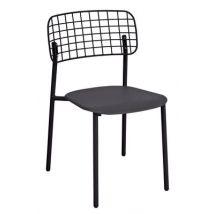 Emu Chaise empilable Lyze / Métal - Emu noir en métal