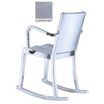 Emeco Rocking chair Hudson Outdoor / Alu brossé - Emeco aluminium mat en métal