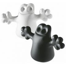 A di Alessi Bouchon Carlo lot de 2 - A di Alessi blanc,noir en matière plastique