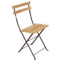Fermob Chaise pliante Bistro, Bois,Rouille, Bois. l:42cm h:82cm