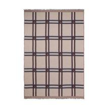 Checked Wool Plaid - / Carreaux - Beige by Ferm Living - Beige - Textile