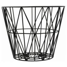 Wire Medium Basket - Ø 50 x H 40 cm by Ferm Living Black