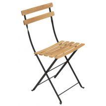 Fermob Chaise pliante Bistro, Bois,Réglisse, Bois. l:42cm h:82cm