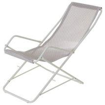 Bahama Reclining chair - Folding by Emu White,Cream