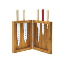 K-block Knife stand - Bamboo wood by Alessi Bamboo