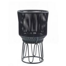 Circo 2 Flower-pot holder - / Ø 40 x H 68 cm by ames - Black - Plastic material