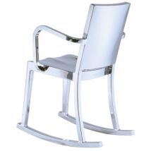 Emeco Rocking chair Hudson Indoor / Alu poli - Emeco aluminium poli en métal