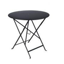 Fermob Table pliante Bistro, Réglisse, Métal. h:74cm Ø:77cm