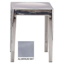 Emeco Tabouret empilable Outdoor / H 46 cm - Aluminium brossé - Emeco aluminium mat en métal